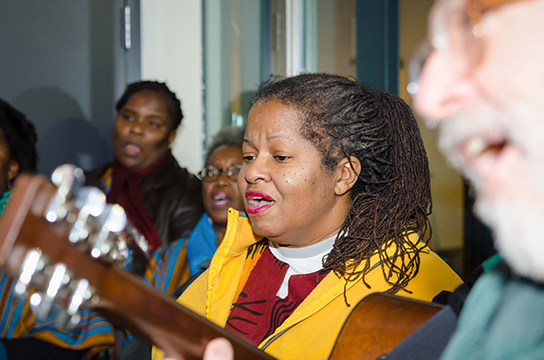 Musicians shared their talents at a vigil held for Nelson Mandela in Washington DC