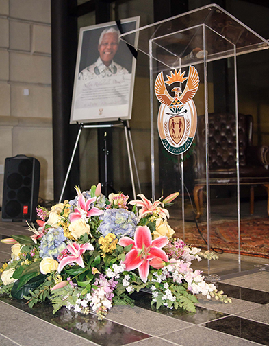 All of South Africa and the world mourned the passing of Nelson Mandela. The South African Embassy in Washington DC was a gathering place for many mourners.