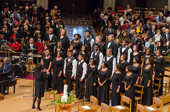 The WPAS Children of the Gospel Choir performs at the US National Memorial Service for Nelson Mandela