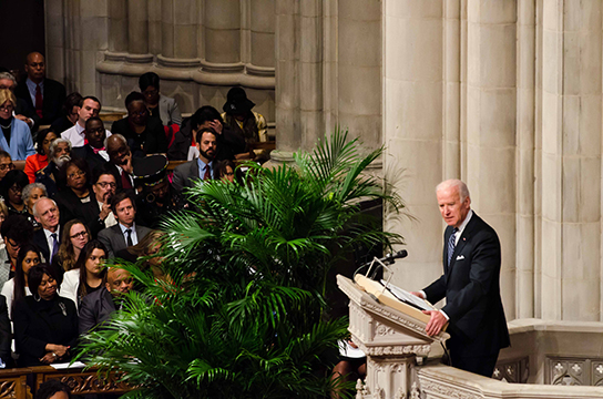 "Vice President Biden shares his thoughts on the life of Nelson Mandela. ""May we always remember the man that did what seemed impossible,"" said Biden."