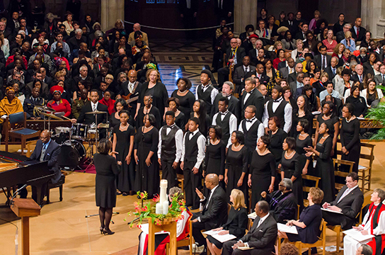 "WPAS Children of the Gospel Choir performs ""Faithful over a few things"" at the National Cathedral in Washington DC"