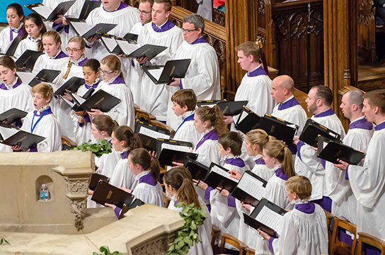 "The Cathedral Choir sings ""Beatitudes"" at the US National Memorial Service for Nelson Mandela at the National Cathedral."