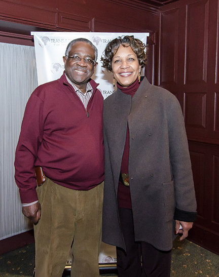 Willie Baker, CBTU Executive Vice President and AFL-CIO Executive Vice President, Arlene Holt Baker pose for a picture at TranAfrica's film reception event at Clyde's.