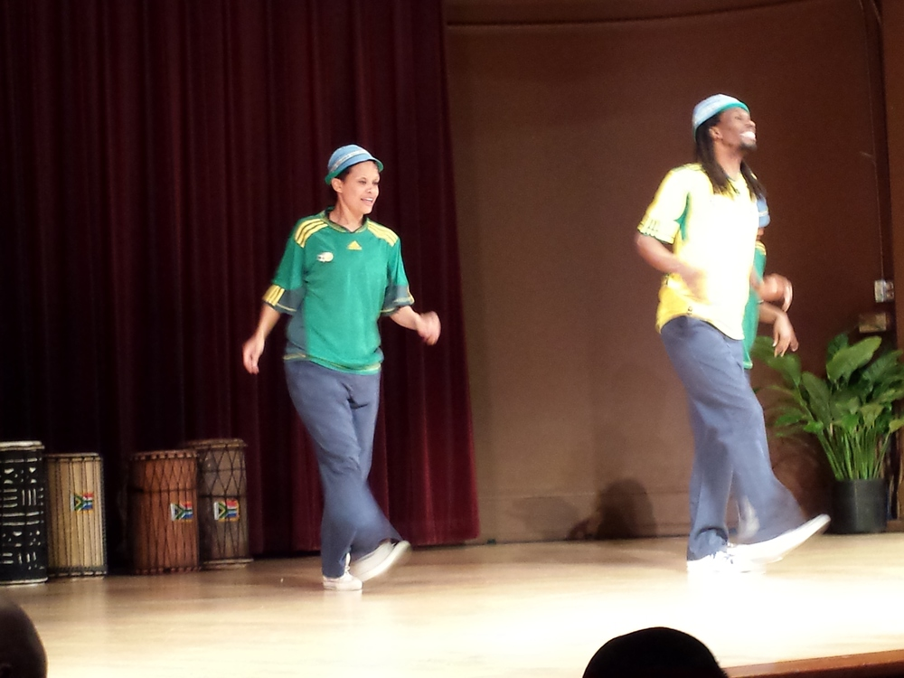 Lesole's Dance Project performs four traditional African dances at the MLK Jr. Program held in DC.