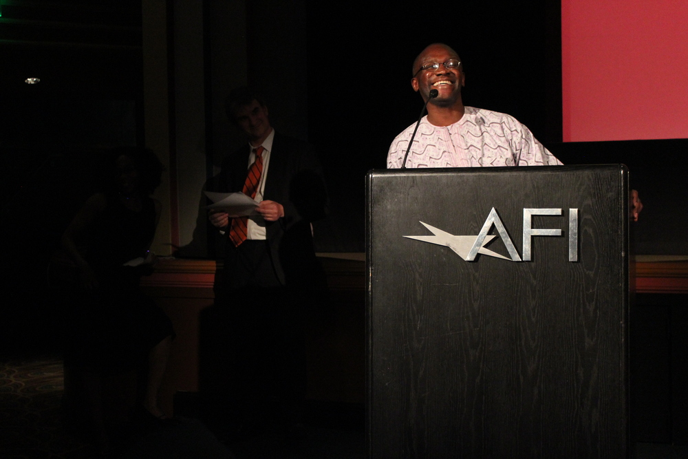 Mwiza Munthali, TransAfrica's Director of Public Education and Outreach, welcomes everyone to the 10th Annual New African Films Festival