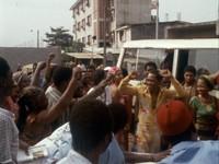 Fela Kuti and Supporters Photo by Francis Kertekian/Rikki Stein
