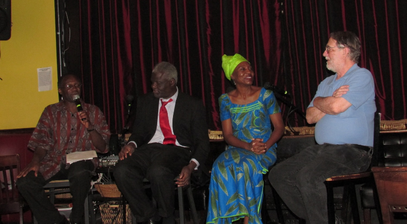 (Left to Right) Mwiza Munthali, Nii Akuetteh, Emira Woods, William Minter
