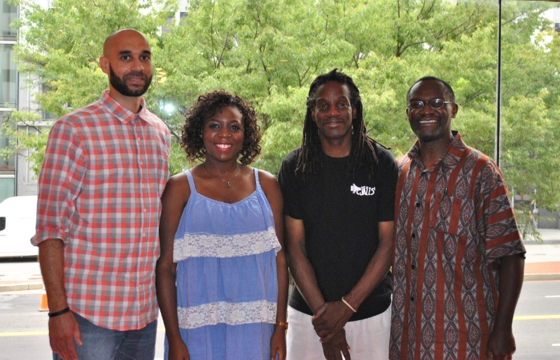 (L-R) Dr. James Pope, Ms. Yannise Tchouankea, Dr. Clarence Lusane, Mr. Mwiza Munthali