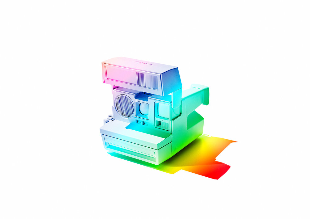 Polaroid in rainbowcolours / personal work