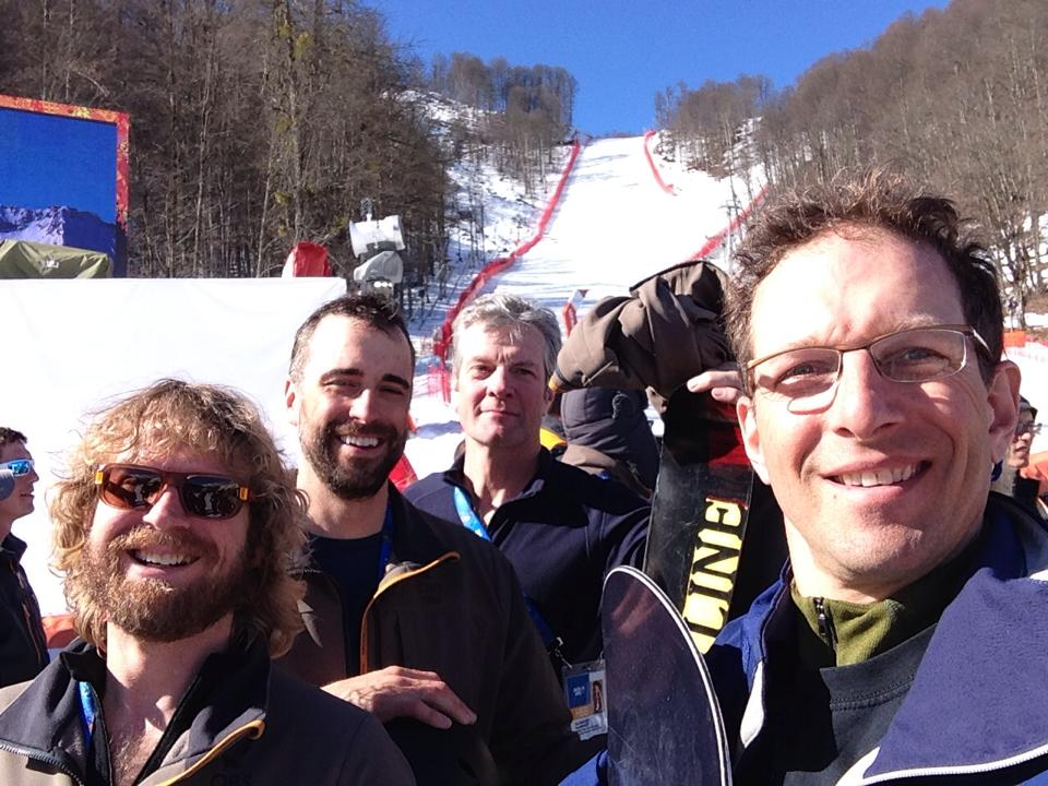 DP Mike Hartzell, Steve Holm, Tom Franchett and Peter Clemence in Sochi, Ru. photo by Peter Clemence.