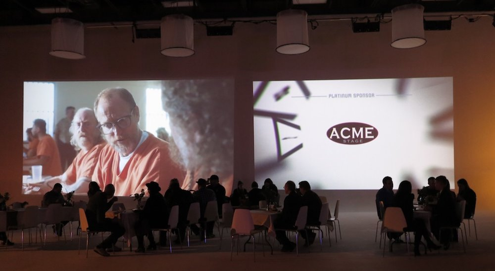 The video showcase was projected on the cyc walls.