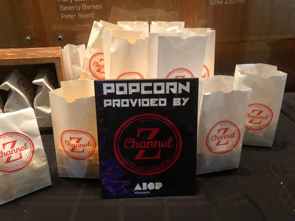 Channel Z Post & Edit provided complimentary popcorn for the event.