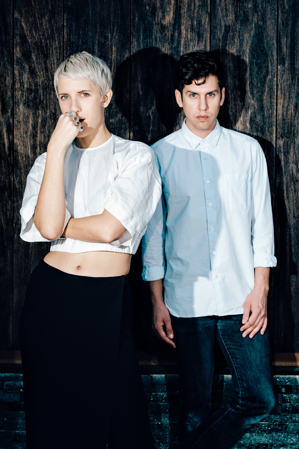 Yacht's Claire Evans and Jona Bechtolt‎ photographed by Chad Kamenshine