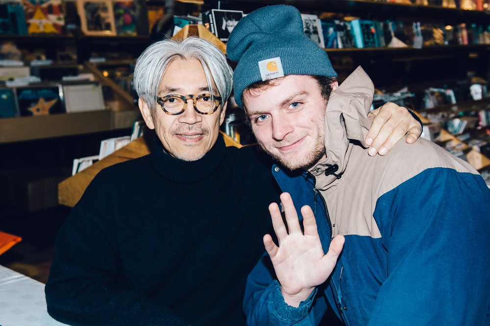 Ryuichi Sakamoto and Mac DeMarco photographed by Chad Kamenshine