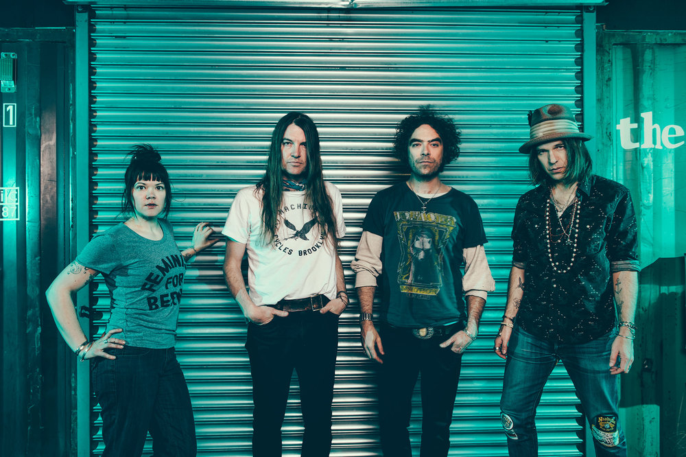 The Dandy Warhols' Zia McCabe, Courtney Taylor-Taylor, Brent DeBoer, and Peter Holmström photographed by Chad Kamenshine