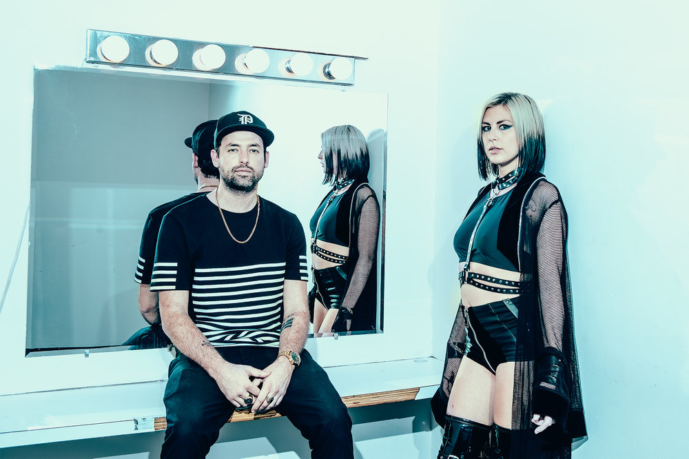 Phantogram's Josh Carter and Sarah Barthel photographed by Chad Kamenshine