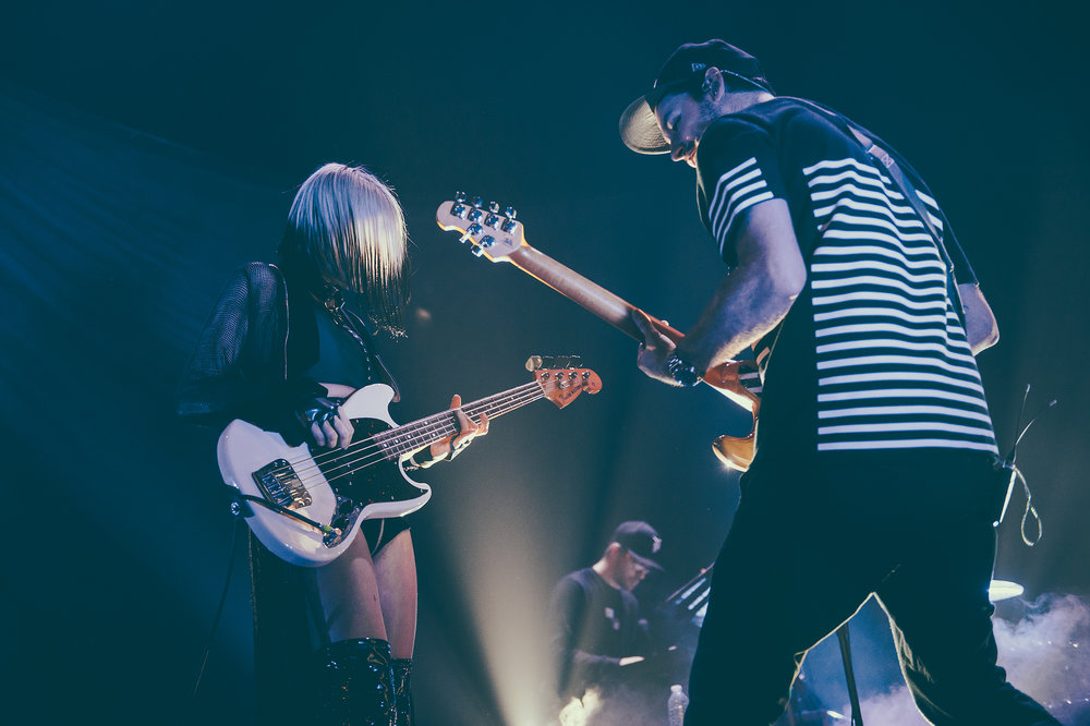 Phantogram's Sarah Barthel and Josh Carter photographed by Chad Kamenshine