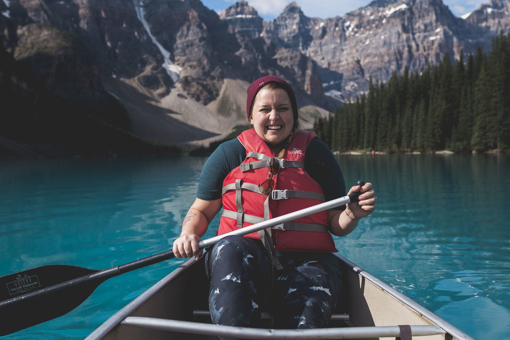 Canoeing in Lake Moraine was a literally bucket list experience of mine - so as you can imagine I was geeking out the entire time! I may have even shed a few tears, it was a surreal & beautiful moment.