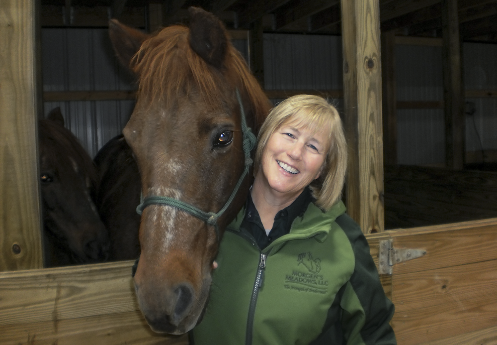 Donna Rioux, Owner and Founder of Morgen's Meadows.