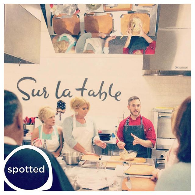 #spotted @chefshankman workin some nonslip boards @surlatable #epicurean #cooking #food #party
