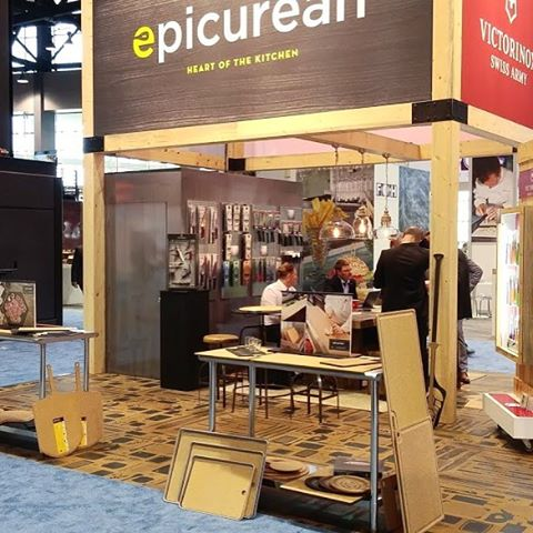 At the National Restaurant Assoc trade show with @victorinoxswissarmy #display #tradeshow #epicurean #vsa #victorinox