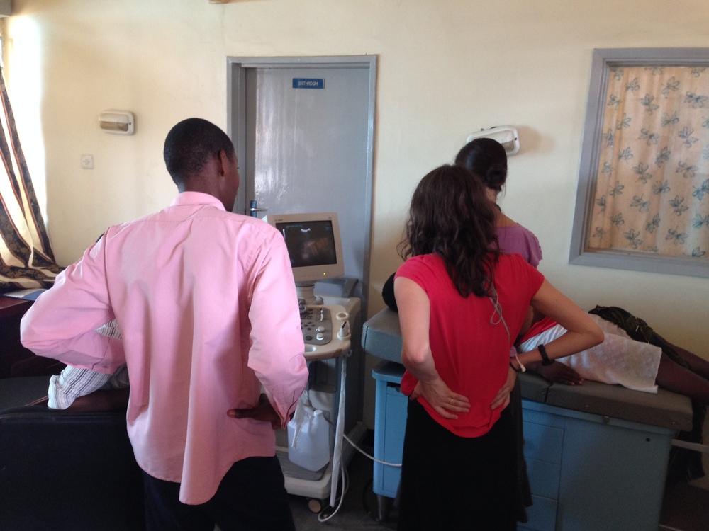 Elizabeth & Beth Using Ultrasound