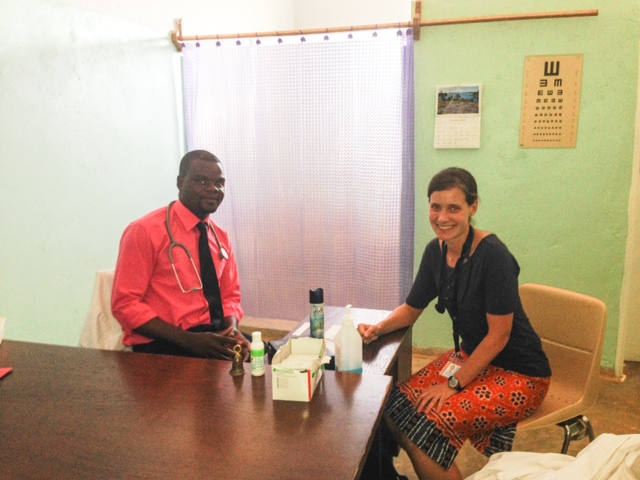 Here's Elizabeth and John at the geriatric clinic