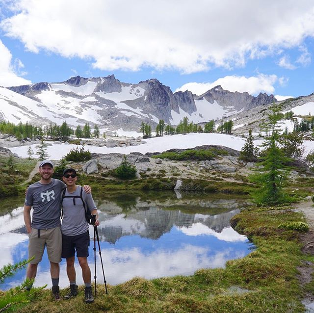 Ballard R2 duo at the Enchantments. #NoFilter #FamilyMedicine #Seattle