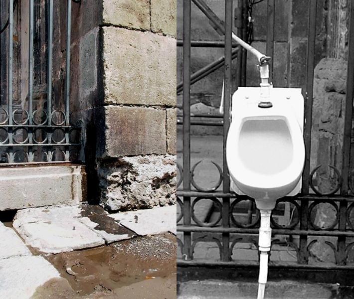 Urinal de la esquina (A Marsel O.), 2001
