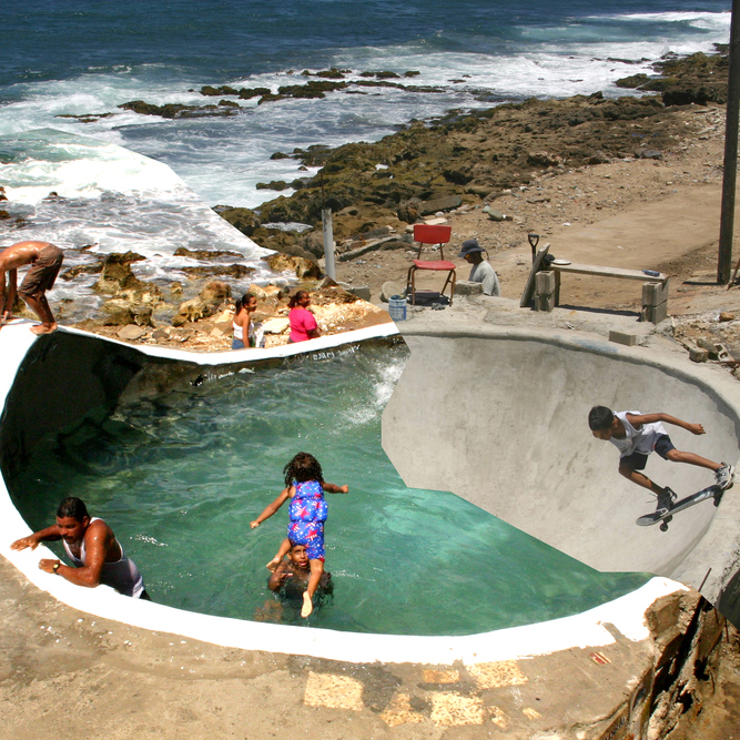 La Perla Bowl  Communal pool and skateboarding bowl. Community based project in San Juan (PR).