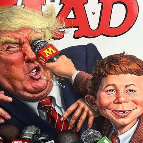 Thank you MAD ! Still making me laugh with politics, and its circus!!! 😂 El deseo de muchos y muchas dibujado e impreso!-)