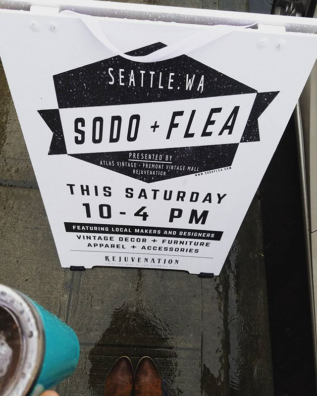 Rainy day activity? Come shop the market! #seattlerain #vintagefinds #succulents