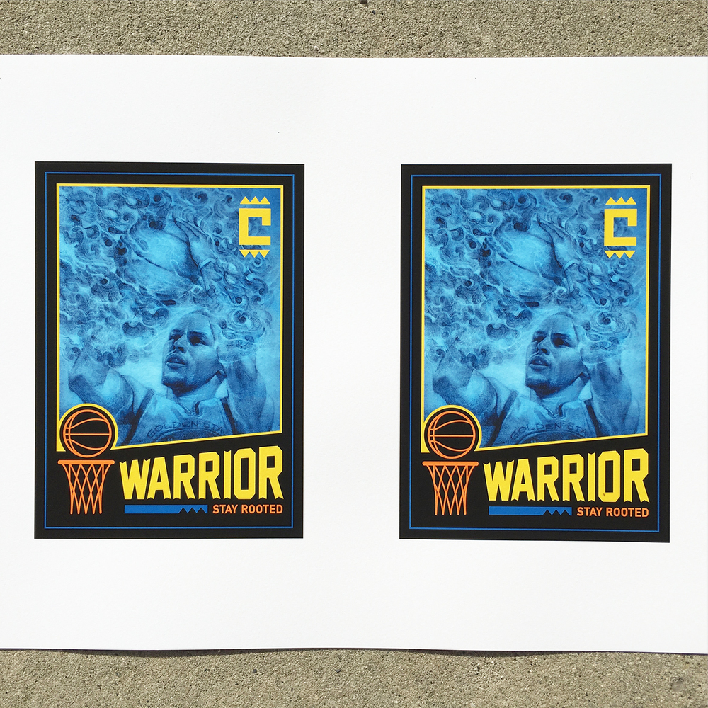 Warriors Basketball | Steph Curry | Sam Rodriguez Art