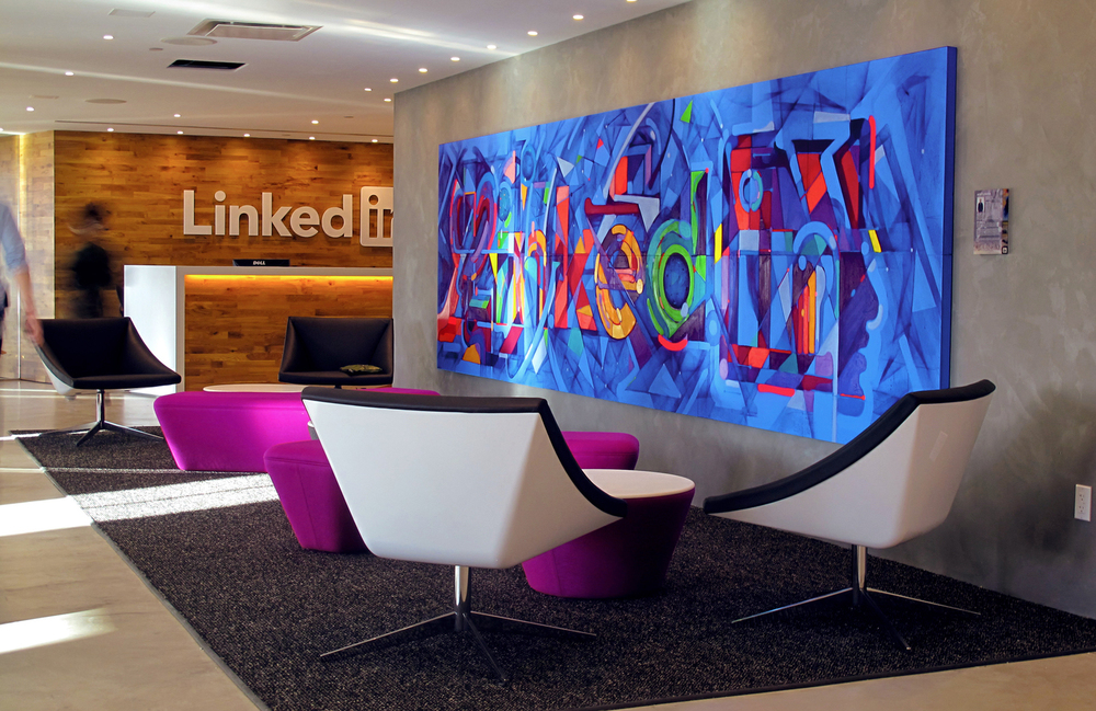 Linkedin NYC Office | Mural | Sam Rodriguez | Silicon Valley Art
