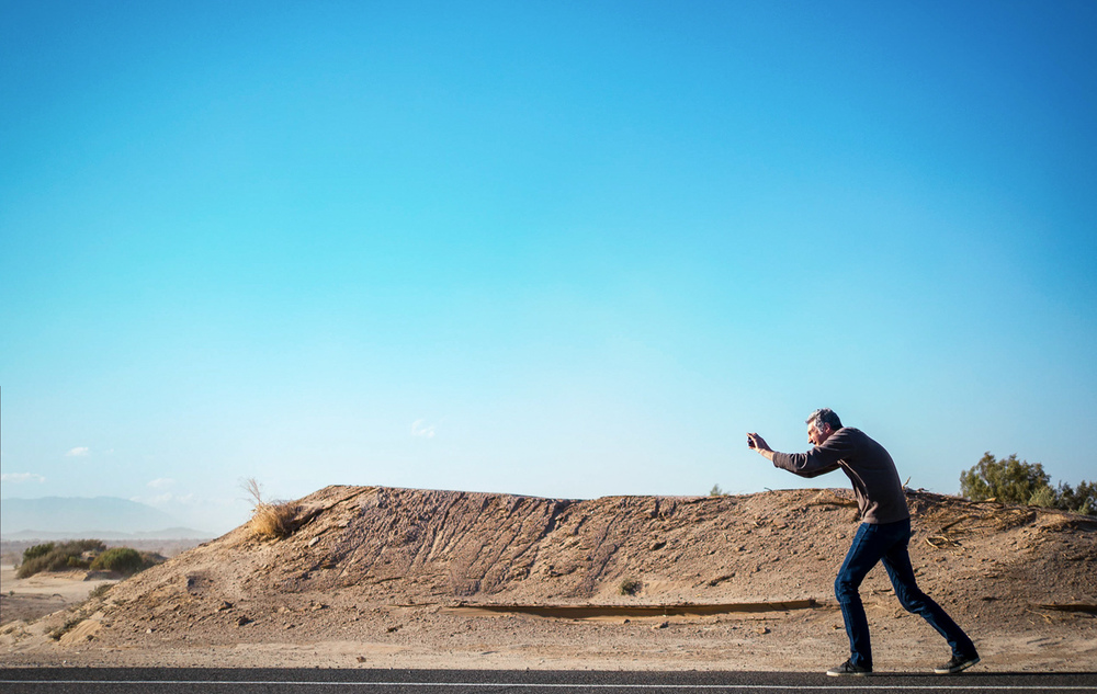 John stops to capture the scenery en route to the Salton Sea. ©2014 Ricardo Gutierrez