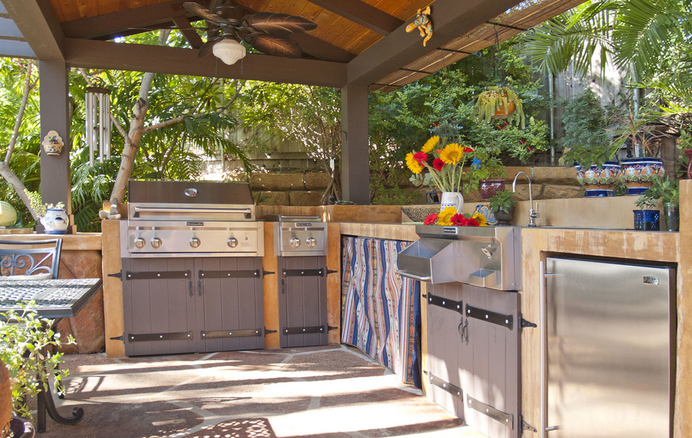 Custom-built outdoor kitchen, private residence, Santa Barbara.