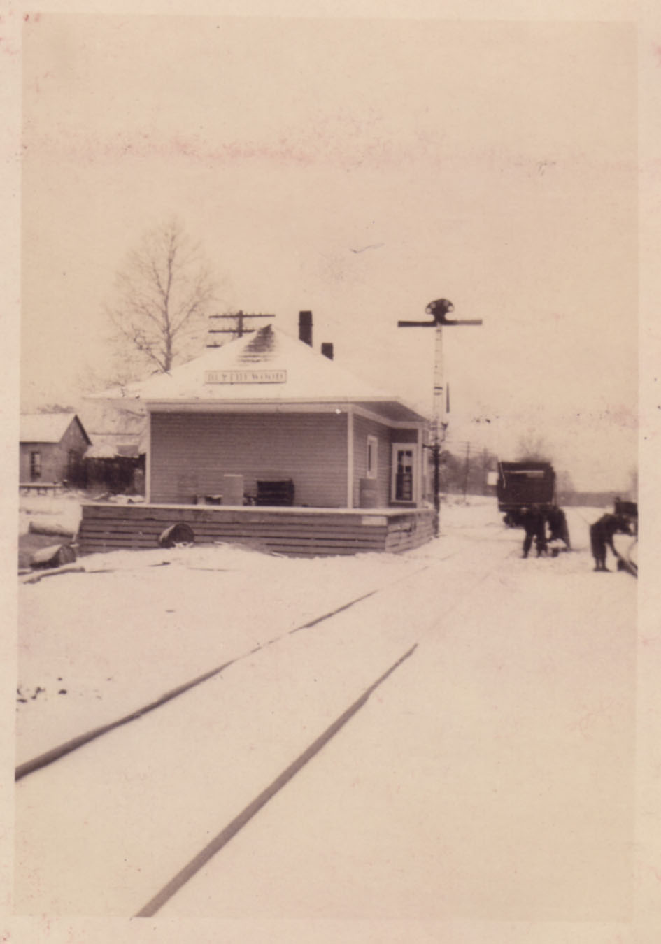 South end of depot.  Photo by Hudnalle McLean Sr.