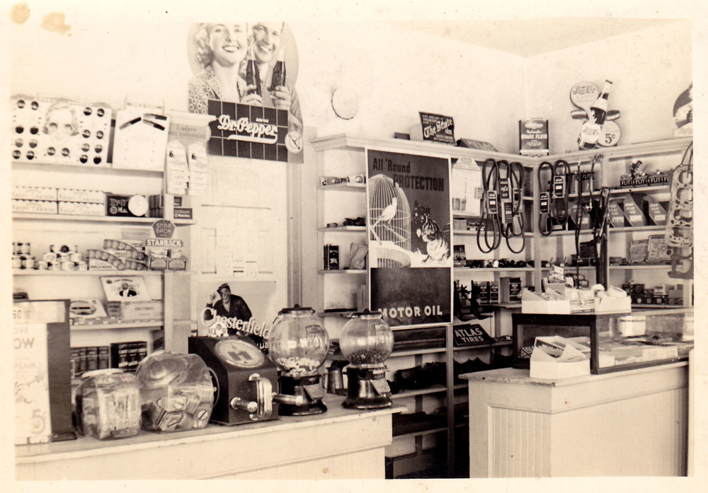 Interior of Elton Wilson's Esso.  Photo courtesy of Kay WilsonLydon.