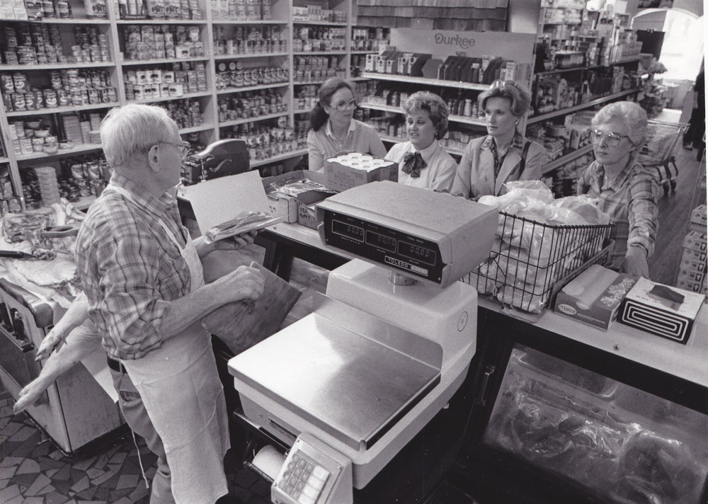 Roger Wilson at community grocery store.  Photo courtesy of his family.