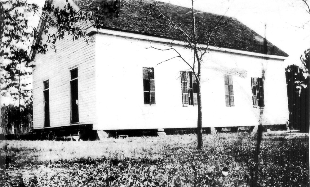 Zion Methodist Church.  Church organized in early 1800's.  This photo taken about 1930.