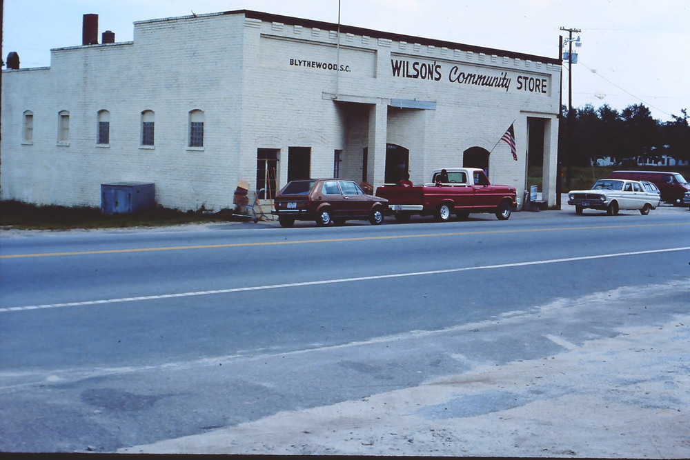 Wilson Store in 1970.  Note Post Office had just closed and moved to new location on McNulty St.  Photo by Hudnalle McLean Sr.
