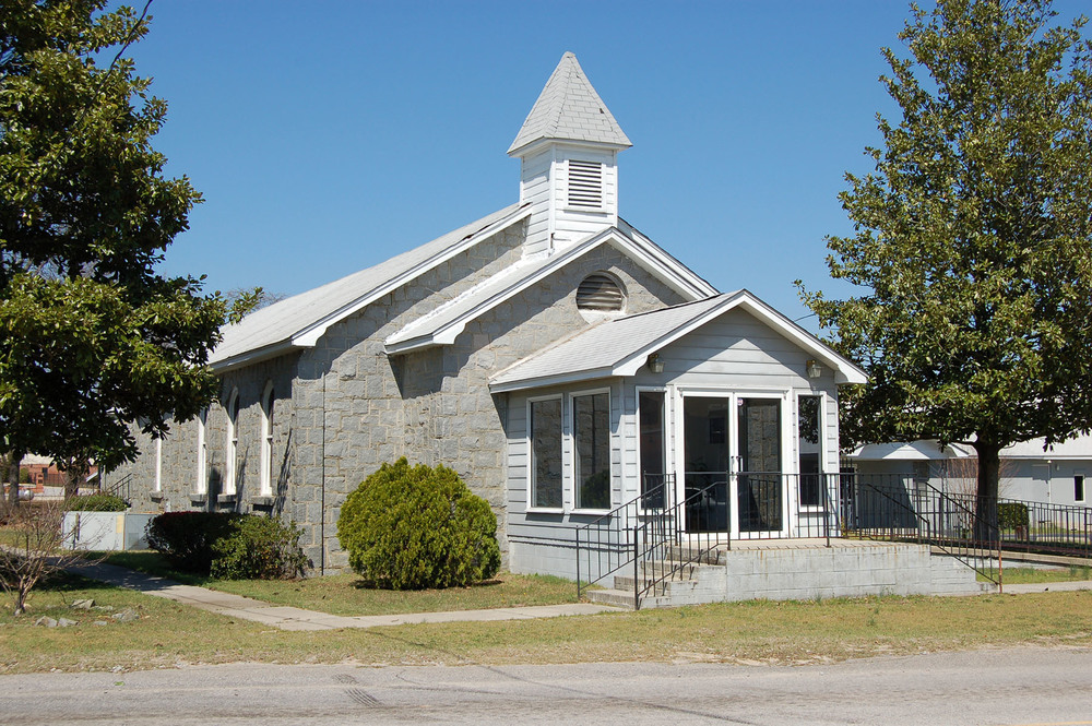 Bethel Baptist Church located at corner of Boney Rd and McNulty St.  Photo by Jim Mclean.