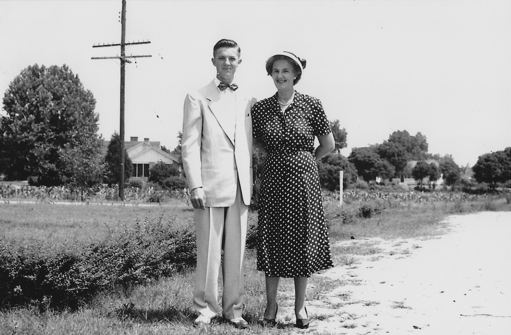 Harold and Lizzie Boney taken in early 1950's.  Photo courtesy of Harold Boney.