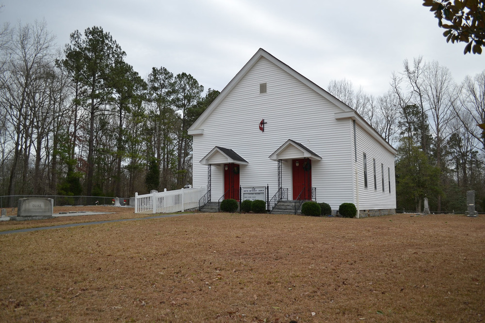 Zion Methodist Church.  Photo taken by Jim McLean in 2012.