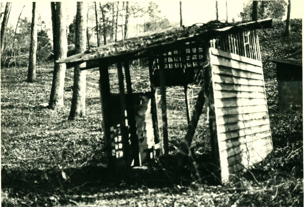 Baptismal Pool before restoration.  Source: S.C Dept. of Archives and History.