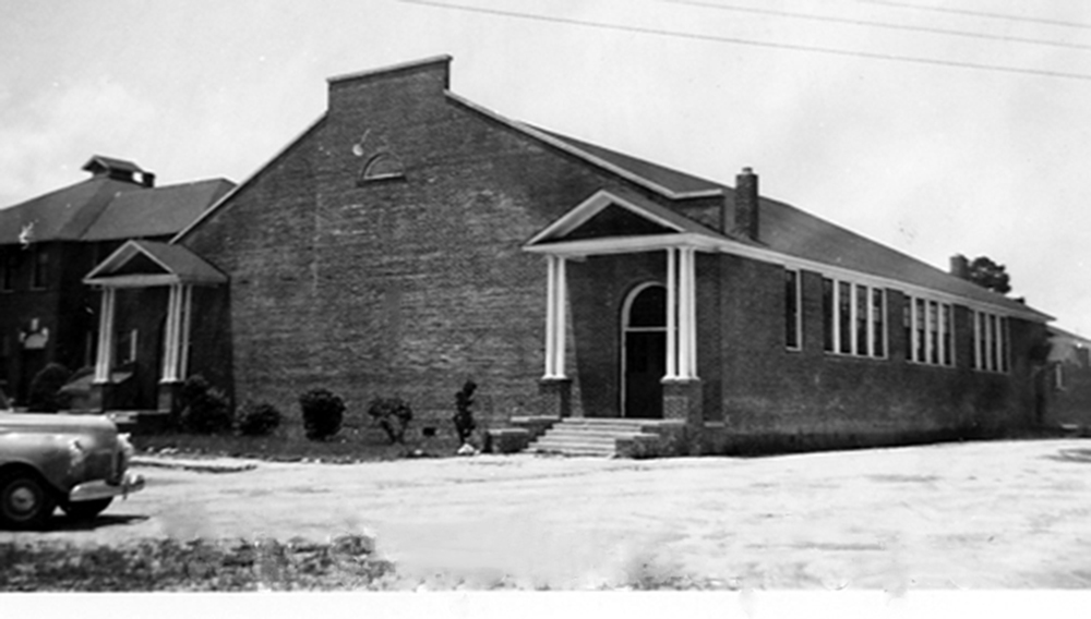 Blythewood School Gym in 1939.  Photo courtesy of SC Department of Archives and History.