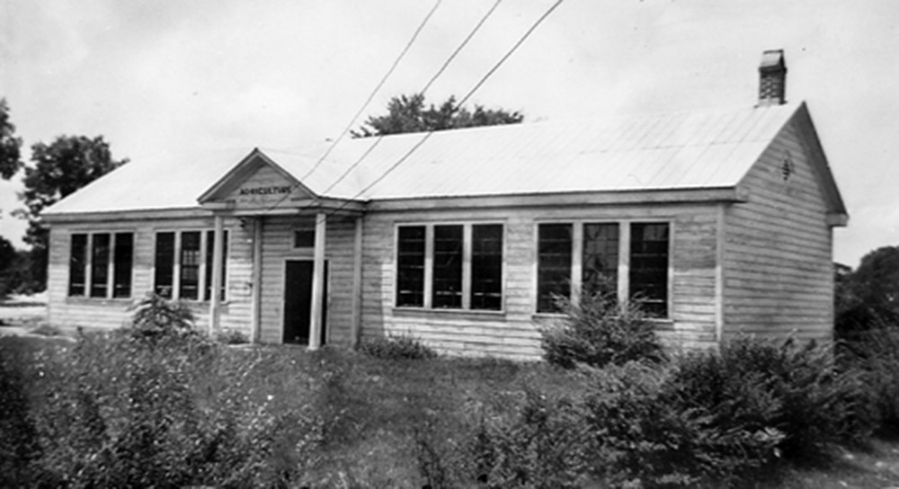 Blythewood School Agricultural Building about 1932.  Photo courtesy of SC Department of Archives and History.