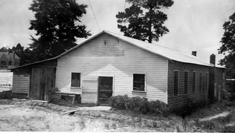 Blythewood School Cafeteria about 1935.  Photo courtesy of SC Department of Archives and History.