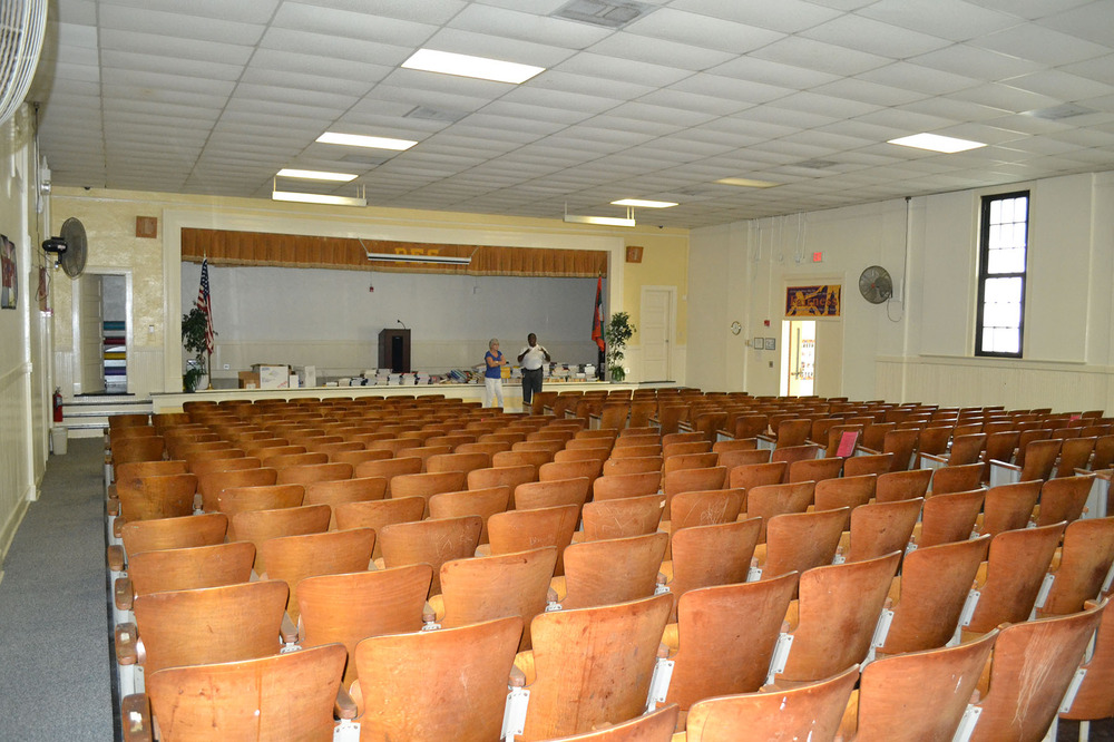 Blythewood School Auditorium.  Photo taken by Jim McLean August 2014.