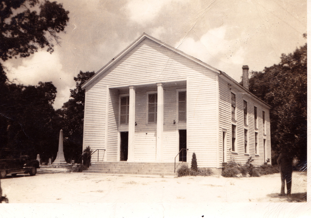 Sandy Level Baptist Church about 1950.  Photo by Hudnalle McLean Sr.